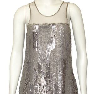Parker sleeveless sequined blouse
